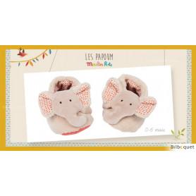 Chaussons Éléphant pour bébé 0-6 mois Les Papoum - Moulin Roty