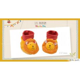 Chaussons Lion pour bébé 0-6 mois Les Papoum - Moulin Roty