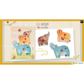 Puzzle encastrable animaux Les Papoum - Moulin Roty