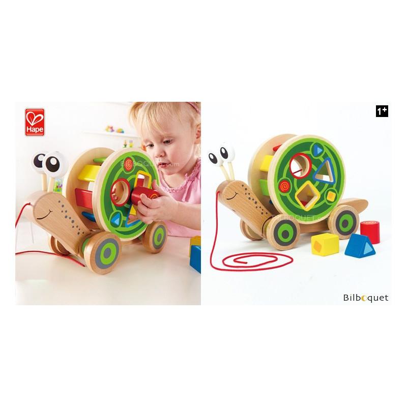 Walk A Long Snail Wooden Pull along Toy