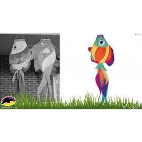 Manche à air poisson rainbow fish 90cm