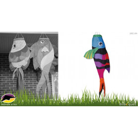 Manche à air poisson rainbow sergent major 132cm