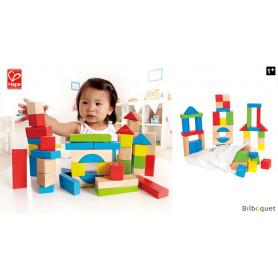 Blocs d'érable (50 pièces) - Jeu de construction en bois