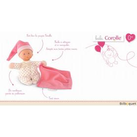 Doudou Minirêve Petits Coeurs Rose 16cm