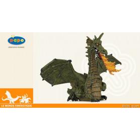 Dragon aile vert avec flamme - Figurine Papo