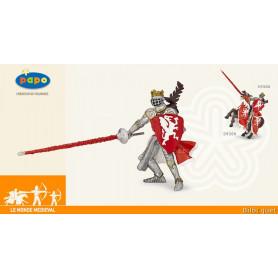 Roi au dragon rouge - Figurine monde médiéval