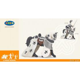 Cheval drape blanc - Figurine jouet