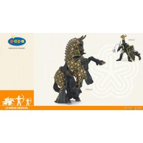 Cheval du maitre des armes cimier taureau - Figurine en plastique