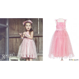 Robe rose Rosalyn - Déguisement fille
