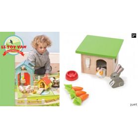 Lapin et cochon d'Inde - Accessoires pour maison de poupées
