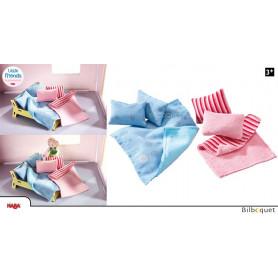 Oreillers et couvertures - Accessoires maison de poupée Little Friends