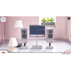 Téléviseur et lampes - Accessoires maison de poupée Little Friends