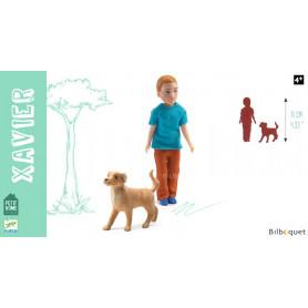Xavier et son chien Poupée articulée - Petit Home by Djeco