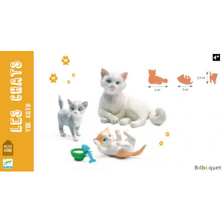 Les chats - Figurines Petit Home by Djeco