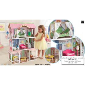 Maison de poupée douce Savannah (meublée)