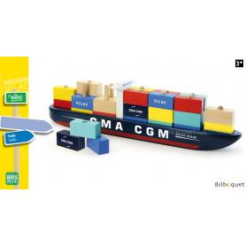 Porte-container avec chargement - Jouet en bois