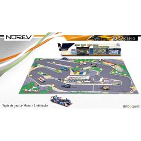 Tapis de jeu Le Mans + 1 véhicule - Norev Racing