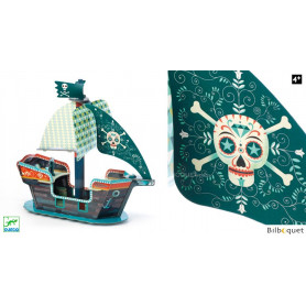 Bateau Pirate 3D en carton POP TO PLAY