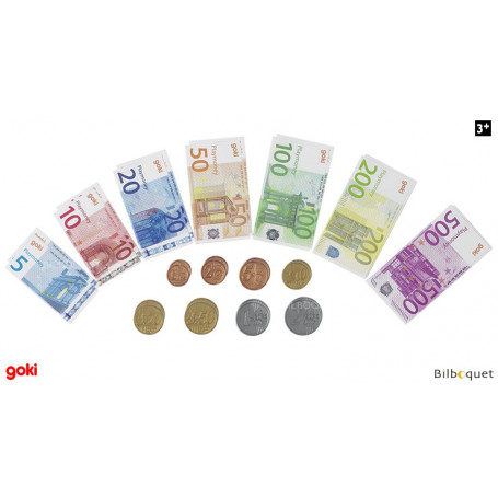 Pièces et billets pour jouer à la marchande