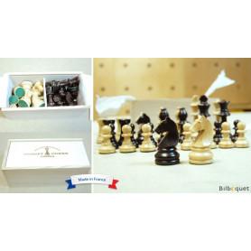 Pièces d'échecs plombées en bois de buis n°4