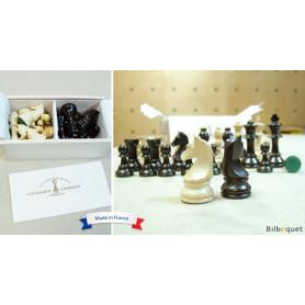 Pièces d'échecs plombées en bois de buis n°5