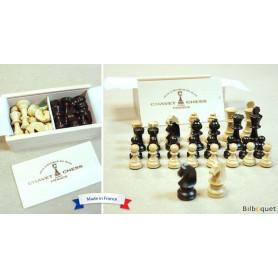 Pièces d'échecs en bois de buis n°2