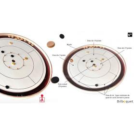Crokinole 65 - Jeu tactique et d'adresse en bois