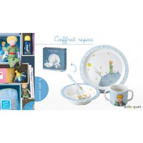 Coffret cadeau 4 pièces BLEU Vaisselle enfant Le Petit Prince