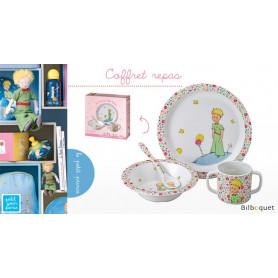 Coffret cadeau 4 pièces ROSE Vaisselle enfant Le Petit Prince