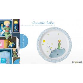 Assiette bébé Le Petit Prince BLEU Ø21cm