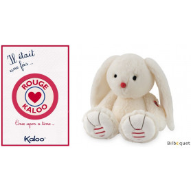 Medium Lapin Ivoire - Lapinou Kaloo Rouge