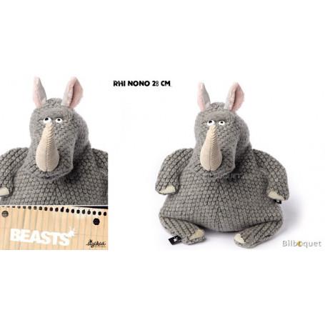 Rhi NoNo (peluche rhinocéros 28cm) - Sigikid Beasts