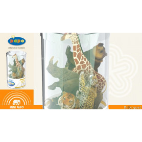 Mini Tub's animaux sauvages n°2 - 12 mini figurines