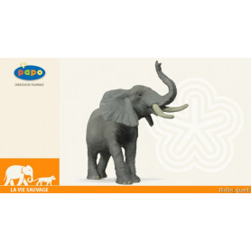 Eléphant barrissant - Figurine la vie sauvage