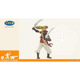 Pirate aux sabres - Figurine Pirates et Corsaires