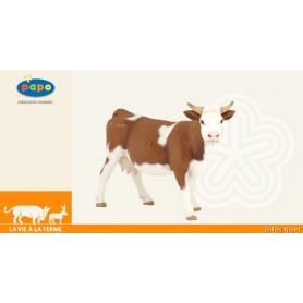 Vache simmental - Figurine jouet