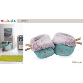Chaussons bleus Chat pour bébé 0-6 mois Les Pachats