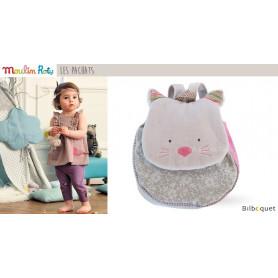 Petit sac à dos chat gris - Les Pachats