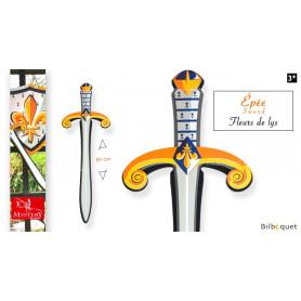 Épée en mousse Fleur de Lys - Accessoire pour déguisement enfant