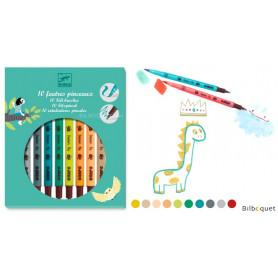 Boîte de 10 feutres pinceaux - couleurs tertiaires