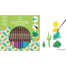 Boîte de 24 crayons aquarellables