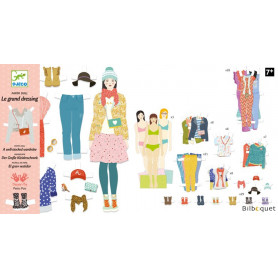 Le grand dressing - Paper Dolls - 3 personnages et 110 vêtements