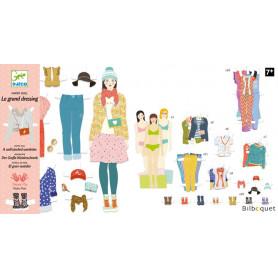Le grand dressing - Paper Dolls - 3 personnages et 110 vêtements