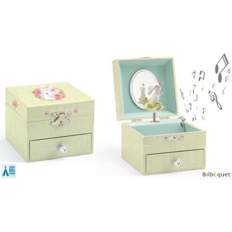 Boîte à bijoux musicale La chanson du lapin choux