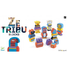 Ze Tribu - 21 blocs de construction en bois